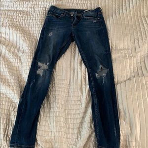 Zara distressed skinny jean